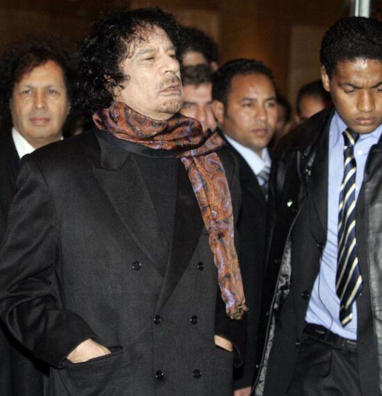 Gadafi visita España