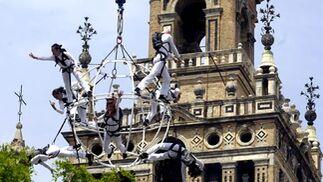 Inauguración acrobática de Fest2008
