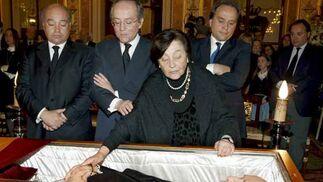 Calvo Sotelo recibe honores de Estado en la ceremonia de despedida en el Congreso