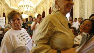 Protesta de los vecinos de Santa María