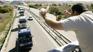 Los camiones toman la provincia