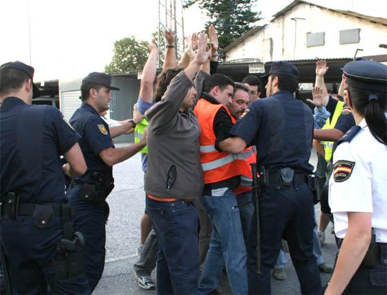 Incidentes en la huelga de transportes en Motril