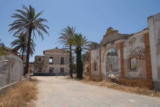 Derribo del poblado de Sancti Petri