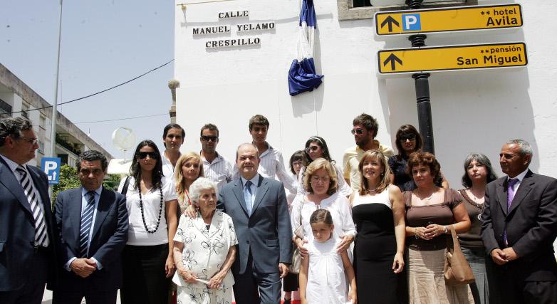 Inauguración de la calle a Manolo Yélamo