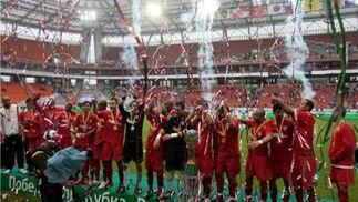 El Sevilla, vencedor del Trofeo de los Ferrocarriles
