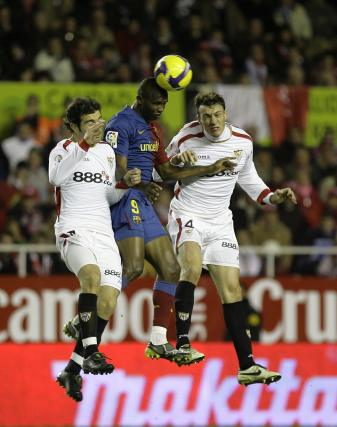 Imágenes del Sevilla-Barcelona (0-3)