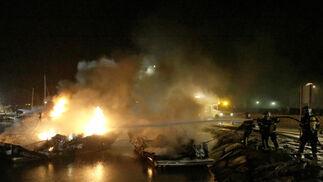 Varios barcos afectados por un incendio