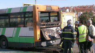 Arde un autobús de la CTM en Algeciras