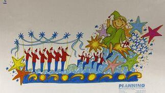 Así serán las carrozas de los Reyes Magos de 2009