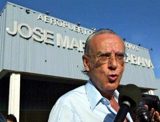 7 de agosto de 2003. Eloy Gutiérrez Menoyo, primer comandante rebelde que entró en La Habana el 1 de enero de 1959 y actual opositor al régimen cubano.
