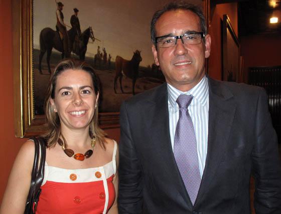 María del Carmen Raso y Antonio García Rebollo (Fundación Doñana XXI).  Foto: Victoria Ramírez