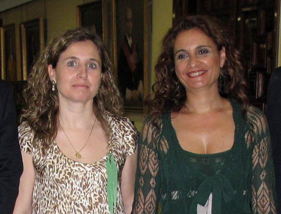 Las consejeras de Salud de Andalucía y Extremadura, María Jesús Montero y María Jesus Mejuto, respectivamente.  Foto: Victoria Ramírez