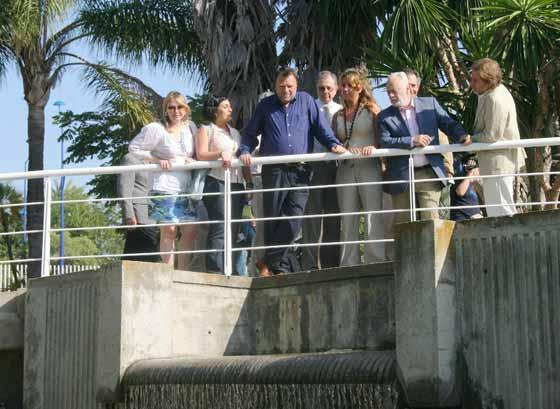 Monteseirín, Pérez Saldaña y los ediles Nieves Hernández, Eva Patricia Bueno y Encarnación Martínez.  Foto: Belén Vargas