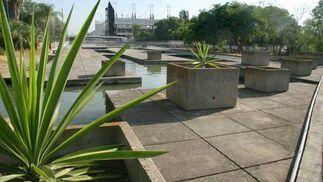 Vista del Jardín Americano con el Auditorio al fondo.  Foto: Belén Vargas