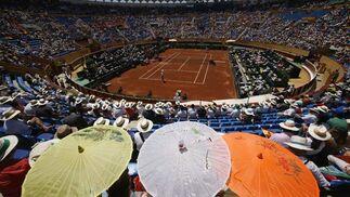 Plaza de Toros de Marbella, donde se está celebrando la Copa Davis  Foto: REUTERS