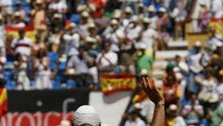 Verdasco suma el primer punto para España en los cuartos de final frente Alemania.   Foto: EFE