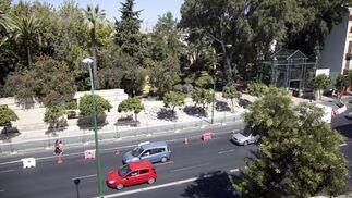 Vista aérea de los Jardines del Valle y la avenida María Auxiliadora  Foto: Jaime Martínez