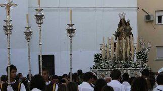 Imagen de la procesión del Carmen en Puerto Real./Borja Benjumeda