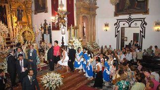 Vista general de la ofrenda isleña./Javier González