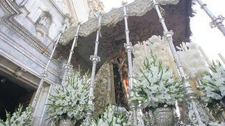 La imagen a las puertas del templo carmelita, en la Alameda de la capital./Jesús Marín