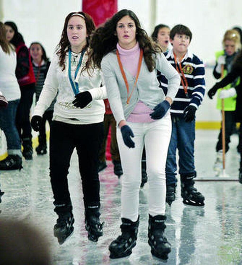 Visita a la pista de patinaje sobre hielo