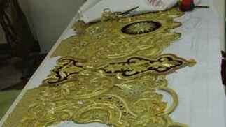 El arte de el bordado en el taller de Charo Bernardino.  Foto: A.s.Carrasco
