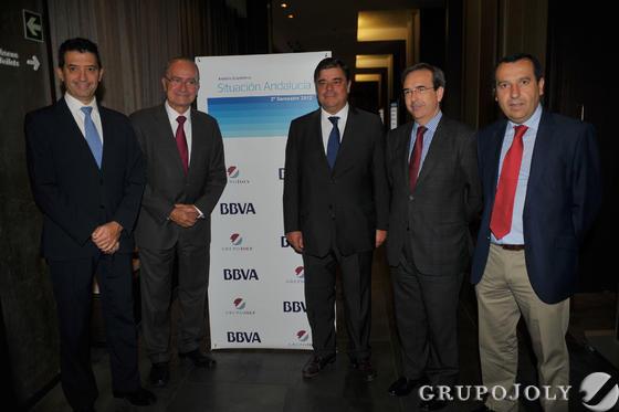 Rafael Doménech, Francisco de la Torre, Agustín Vidal-Aragón, Juan Carlos Fernández y José Luis Ruiz.  Foto: Javier Albiñana