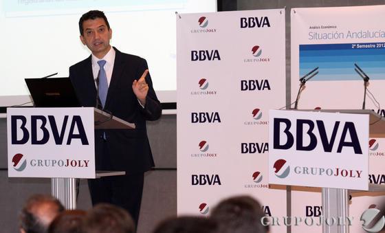 Rafael Doménech, economista jefe para Economías Desarrolladas de BBVA Research, durante su presentación.  Foto: Javier Albiñana