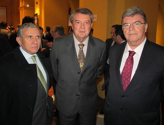 Martín Arance (Arance), José Antonio Sarmiento (Iberhanse) y Ramón Jiménez (Gescoan).  Foto: Victoria Ramírez