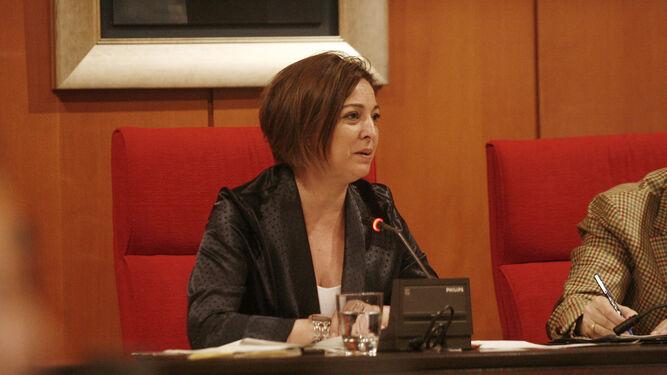 La alcaldesa, Isabel Ambrosio, en un momento del Pleno.