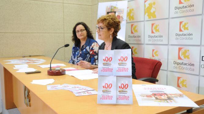 Ana Belén Ramos y Marisa Ruz, ayer en la sala de prensa de la Diputación.