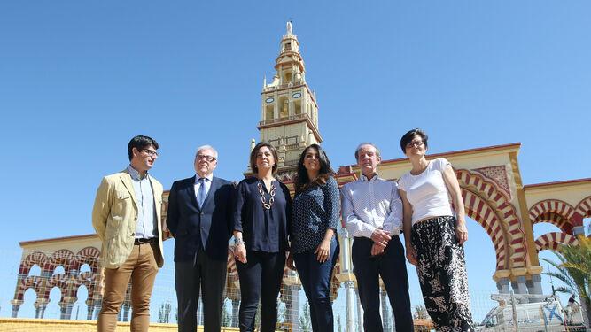 García, Aumente, Ambrosio, González, Pino y Pernichi ayer, en la presentación de la Feria.