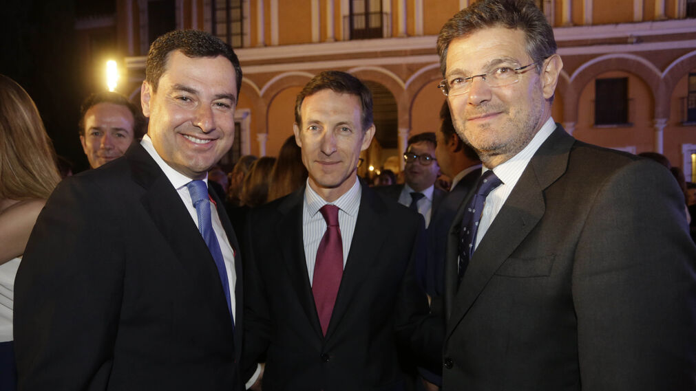 Juan Manuel Moreno, Luis Sánchez Manzano y Rafael Catalá.