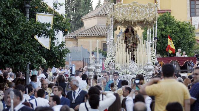 Procesión del Carmen el año pasado en San Cayetano.