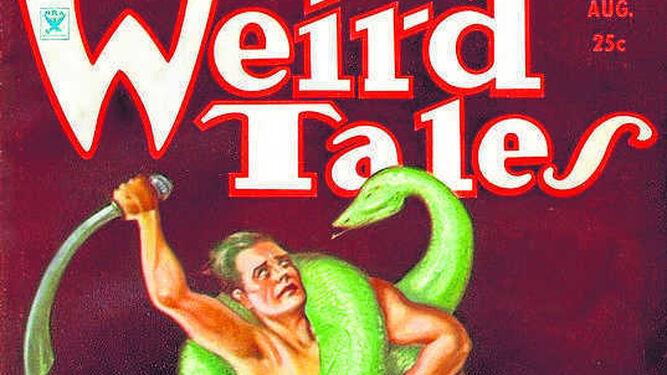 2. Portada del número de 'Weird Tales' de agosto de 1934, con Conan como protagonista del relato 'El diablo de hierro'. 3. Portada de 'Ambición a la luz de la luna y otros textos autobiográficos', el libro ahora publicado por GasMask Editores.