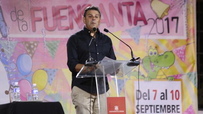 Antonio Manuel Rodríguez, durante su pregón de apertura de la Velá.