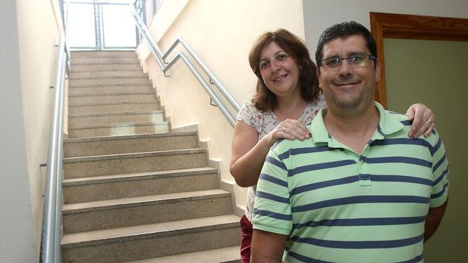 Alfonso Calvo y su mujer, Mariló Pérez.