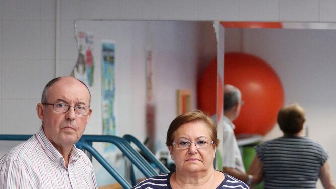 Cándida Barquero y su marido, Rafael Membrives.