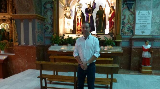 El hermano mayor de la cofradía, José Ortiz.