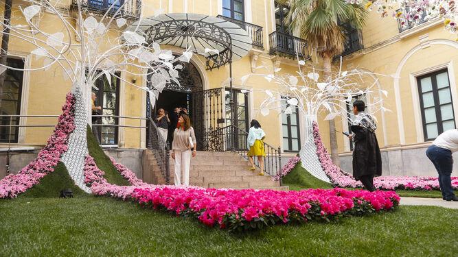 Detalle de la obra 'Paraíso: Delirio y Deseo', que se puede contemplar en el patio de Vimcorsa.