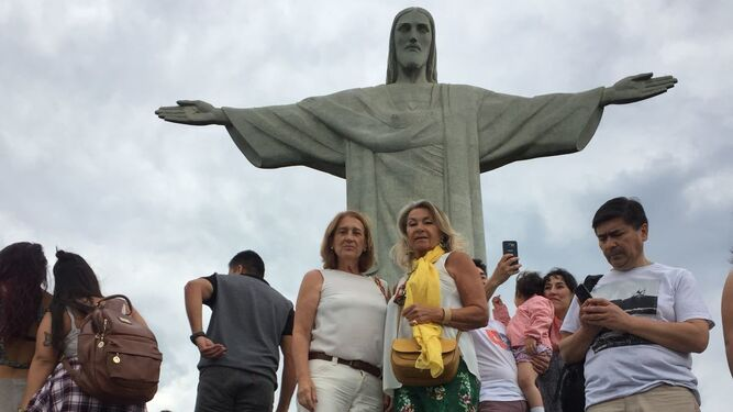 Esperanza Jiménez, durante su viaje en Brasil.