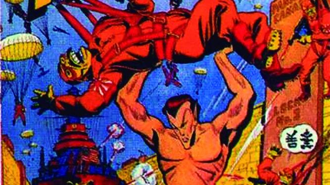 Namor combate a los japoneses durante la 2ª Guerra Mundial.