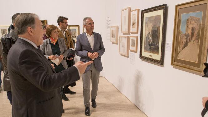 Una de las tantas imágenes que se ven en el  audiovisual inmersivo que se ha preparado con motivo de la exposición 'Bab al-Saria. Bienvenidos a la Alhambra'.