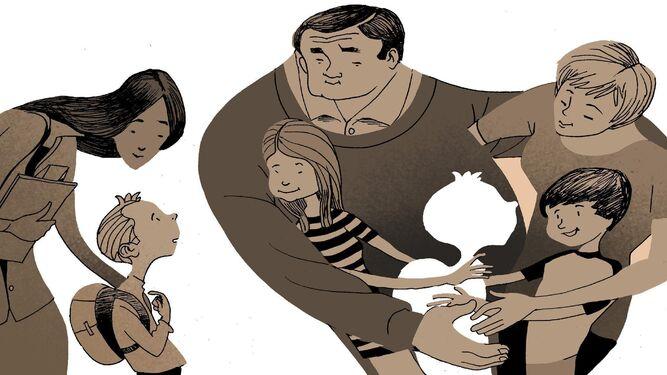 Cerca de 300 niños viven con una familia de acogida