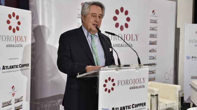 Javier Targhetta, consejero delegado de Atlantic Copper, presentó a los conferenciantes.