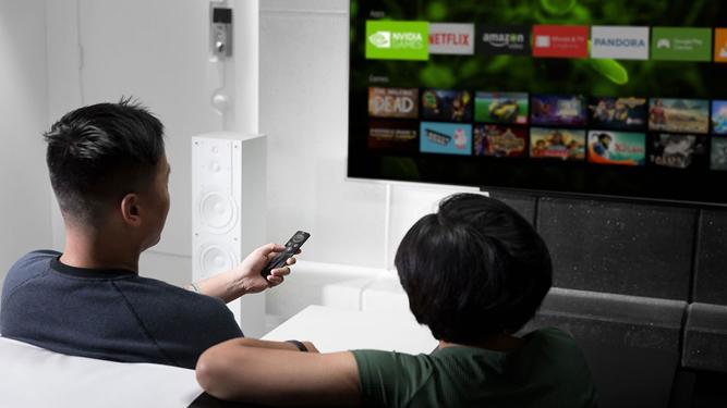 Una imagen de NVIDIA Shield TV.