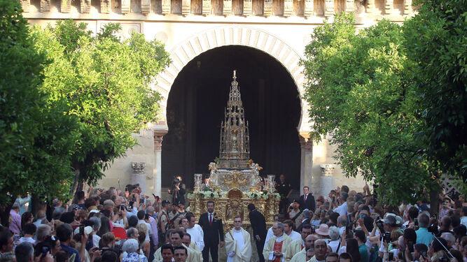 La procesión del Corpus mantiene  el recorrido por el Casco Histórico