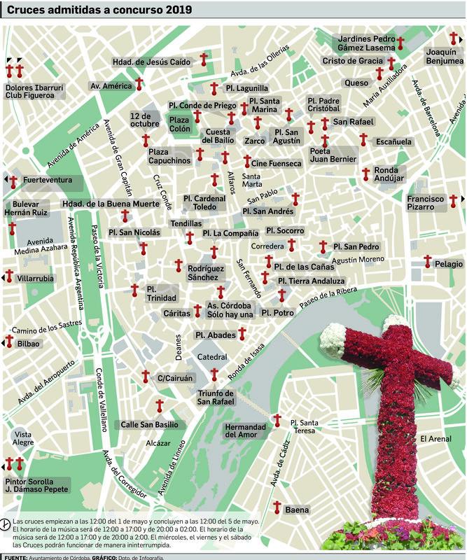 Mapa Feria Sevilla 2019.Descargate Aqui El Plano De Las Cruces De Mayo De Cordoba 2019