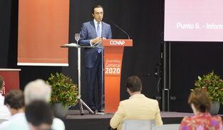 Ricardo Delgado Vizcaíno, durante la asamblea general.