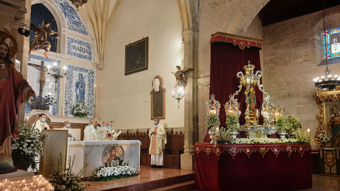 El obispo de Córdoba, en el santuario de la Fuensanta